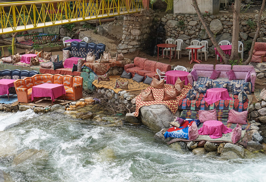 Cafe by the river in Ourika, Morocco