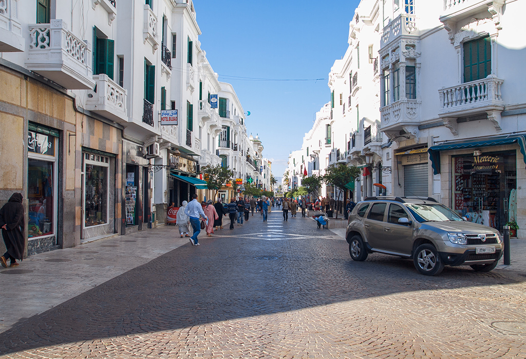 Africa, Morocco, Tanger, city, cars and urban view.  2013