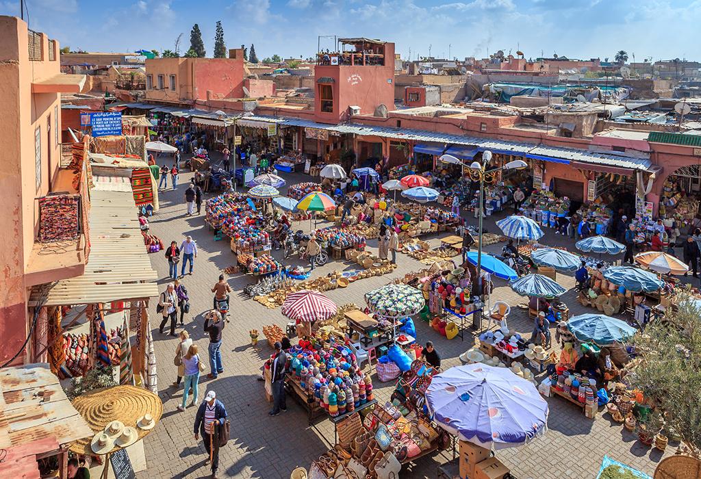 Marrakesh medina market