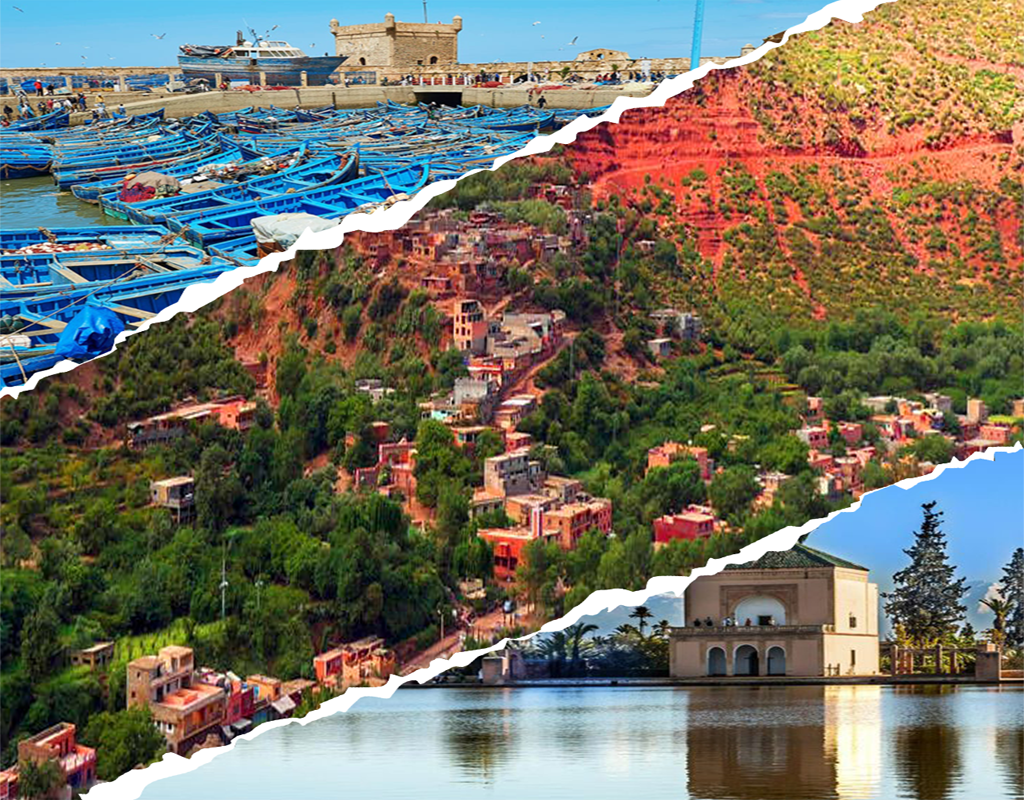 package three valley trip from marrakech essaouira trip and marrakech half day city tour